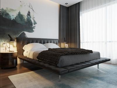 Trang trí căn hộ với màu xanh năng động