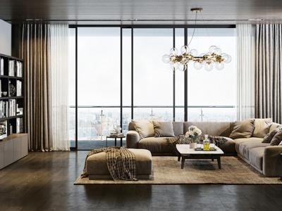 Thiết kế nội thất phòng khách với nguồn cảm hứng tối giản hiện đại